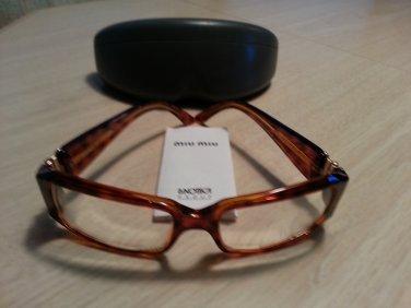 65094190ceb MIU MIU (PRADA) SMU 03G Eyeglass Frames Gold Tortoise Brown SMU03G 2AU-3N1  - DISCONTINUED!