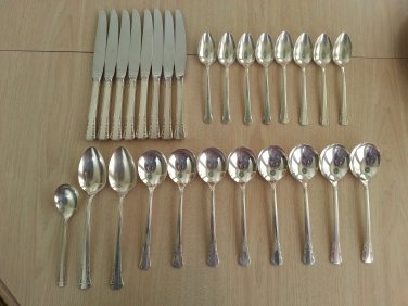 Oneida Del Mar Pattern Silverplate From 1939 27 Pieces