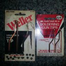 VINTAGE COPPER SOLDERING GUN TIPS - 2 ARCHER & 1 WELLER!!
