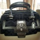 "Coach ""Exotics Collection"" Metallic Black Signature Snakeskin Satchel #G05Q-8K40- Authentic!"