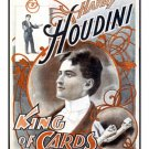 Harry Houdini, King of Cards 18 x 24 FRAMED/Glass Giclee Print!