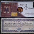 RONALD REAGAN MEMORIAL STAMP FIRST DAY COVER & COIN - Limited Edition Collectible from Morgan Mint!