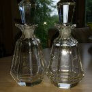 Vintage Crystal Cruet Olive Oil Balsamic Vinegar Bottles with Stoppers - Made in Czechoslovakia!