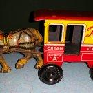 1950's LOUIS MARX TOYTOWN MILKWAGEN & HORSE TIN TOY!