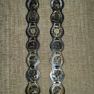 English Horse Medallions Medals Leather Strap Bridle Martingale Equestrian Horseback Riding Decor!
