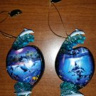 "Christian Riese Lassen Sea Life Ornaments - Lot of 2 - ""Above and Below"" Heirloom Collection!"