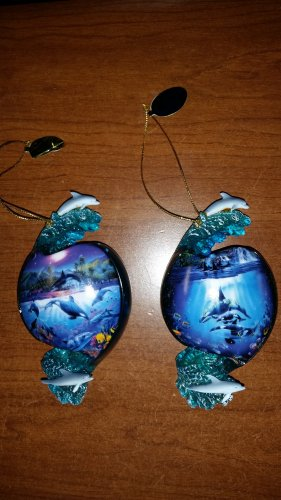 """Christian Riese Lassen Sea Life Ornaments - Lot of 2 - """"Above and Below"""" Heirloom Collection!"""