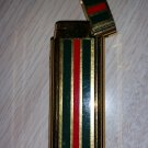 VINTAGE MARUMAN 495F SENSOR LIGHTER RARE BUTANE - 22K G.P. - Made in Japan - GUCCI COLORS!!