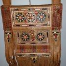 Vintage Fringed Berber Bag Moroccan Leather Shoulder Bag - Satchel - BOHEMIAN!