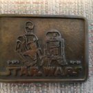 VINTAGE STAR WARS C-3PO & R2-D2 Droids Belt Buckle Marked 3249!