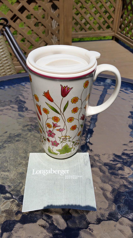 Longaberger Pottery Travel Mug