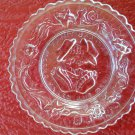 """Vintage Westmoreland """"Wedding Day and Three Weeks After"""" Mini Pressed Glass Dish Plate!"""