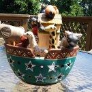 Noah's Ark Peruvian Pottery Religious Art Pottery Tealight Candleholder Sculpture South America!