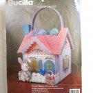 Bucilla Easter Bunny House Basket Needlepoint Kit #61235 - Plastic Canvas!