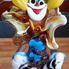 "VINTAGE 9"" TALL MURANO ITALIAN GLASS ART CLOWN PLAYING ACCORDION!"