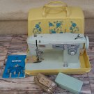Vintage Brother CHARGER 651 MODEL C Sewing Machine with Case & Goodie Box!