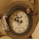 "Lariat Rope Clock - ""The Cowboy Way"" - Western Decor - Hand Crafted 15"" Lasso Wall Clock!"