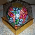 San Francisco Candle Company Multi Color Design Round Millefiori Candle - LASTS YEARS & YEARS!