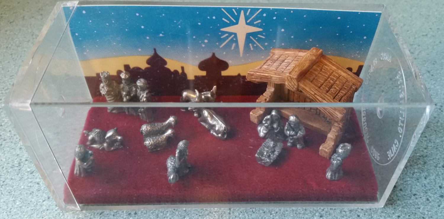 Hudson mini world Storybox Collection Pewter nativity set