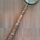 Silver Repousse Handled Magnifying Glass - 15 inches Long - Can be engraved - Beautiful!