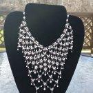 Vintage Cascading Crystal Bib Necklace!