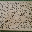 Hearts & Swirls Very Large Wood Mounted Rubber Stamp by Stampin' Up! - NEW!