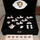 Vintage Barbie 35th Anniversary Chilton Globe Holiday China Mini Tea Set in Box with COA!
