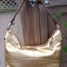 ETIENNE AIGNER METALLIC GOLD HAND BAG / PURSE - PERFECT SIZE - LIKE NEW!