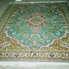 "KAYSERI SILK TURKISH CARPET RUG-7'4"" x 10'4""-MEDALLION DESIGN-ANATOLIA'S MAGIC CARPET-100% AUTHENTIC"