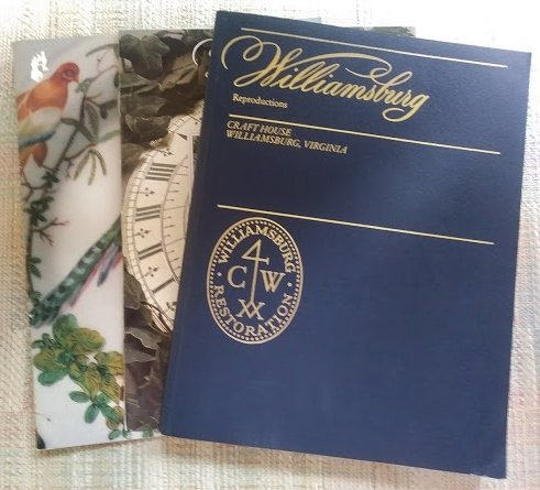 Williamsburg reproduction color catalog from craft house for Williamsburg craft house catalog