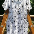 ASTARTE Plus Size Designer Custom Made WHITE & BLACK STRETCH LACE DRESS, 1X - 2X - AIRY!