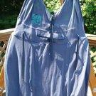 BLUE FISH SUMMER 1992 FOLK JUMPER - HAND-PAINTED - ORGANIC COTTON - OSFM!