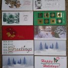 Vintage Christmas Holiday Money Holder Cards - Paper Ephemera - Lot of 10!