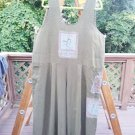 FLAX by ANGELHART Linen Art To Wear OLIVE Hand Painted ROMPER/JUMPSUIT - SZ. LARGE!