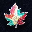 Vintage BMCO Sterling Silver and Enamel Maple Leaf Brooch Pin Circa 1970's - Canada Souvenir!