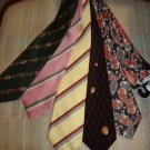 GUCCI NECK TIES - LOT OF 5 VINTAGE NECK TIES - AUTHENTIC + BONUS - WOW!
