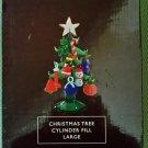 Illuminations Glass Christmas Tree & 16 Ornaments Cylinder Fill Large 5 Inch NIB