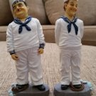 LAUREL & HARDY SAILOR FIGURINES Dave Grossman Creations 1999 Larry Harmon Pictures Corp.