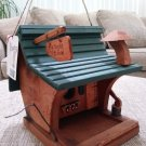 "SPIRIT OF THE WOODS HANDMADE CEDAR BIRD FEEDER - ""FLY RIGHT INN"" - ORIGINAL DESIGN - MADE IN USA!"