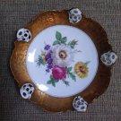 Vintage Rosenthal Moliere Bowl Gold Gilt Florals, Pierced - Excellent condition!