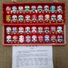 Vintage Opera Traditional Hand Painted Clay Miniature Masks - Types Of Facial Makeup!