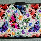 Shell D RFID Secure Armored Wallet - Wings, Multi Color Butterflies - Holds 7 Credit Cards!