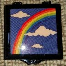 Vintage Treasure Pill Stash Box Case Rainbow, Clouds & Stars w/ 4 nestingboxes - 1970's POP Culture!