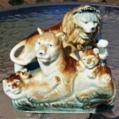 Vintage Lion Pride Family Figurine - Made in Occupied Japan!