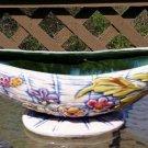 Vintage 1950s Hull Pottery Console Gondola Bowl Vase Blossom Flite Planter Decor!