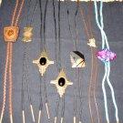 LOT of 6 BOLO Necklaces - Leather, Onyx, Goldstone PLUS BONUS!