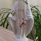 "Vintage Touch Of Rose by Roman 12"" Blessed Mother Mary The Miraculous Medal Figurine Statue"