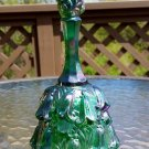 Fenton Bell - Green Opalescent with Fenton Sticker still attached!