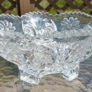 """Near Cut Cambridge Large Sawtooth Rim Footed Glass Bowl 4""""Tall by 9.75""""Wide!"""