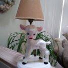 Vintage Holland Mold LAMB Lamp - Adorable and Rare!